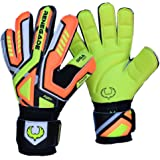 Renegade GK Fury Goalkeeper Gloves With Removable Pro Fingersaves - Sizes 7-11, 3 Styles/Cuts (Hybrid, Roll, Flat), 30 DAY 100% SATISFACTION GUARANTEE WARRANTY -Unisex, Adult, Youth Soccer Goalies