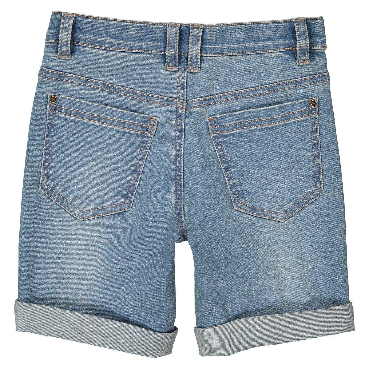 3-12 Years La Redoute Collections Big Boys Denim Bermuda Shorts