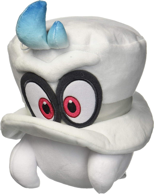 Amazon Com Little Buddy 1658 Super Mario Odyssey White Cappy Normal Form 7 5 Plush Toys Games