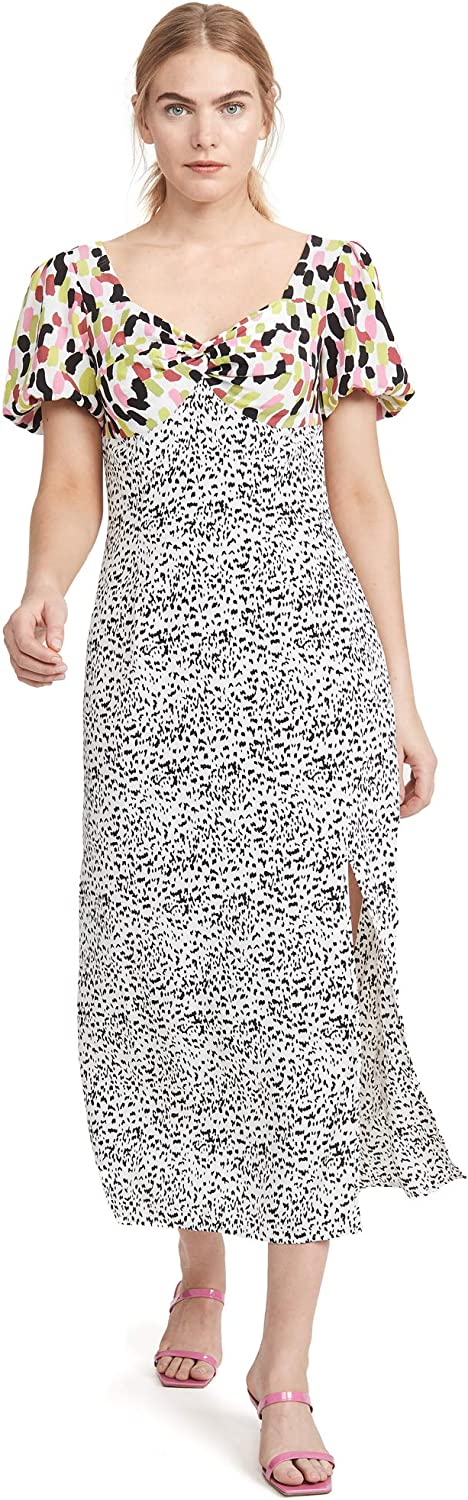 Glamorous Women's Multi Abstract Spot Midi Dress