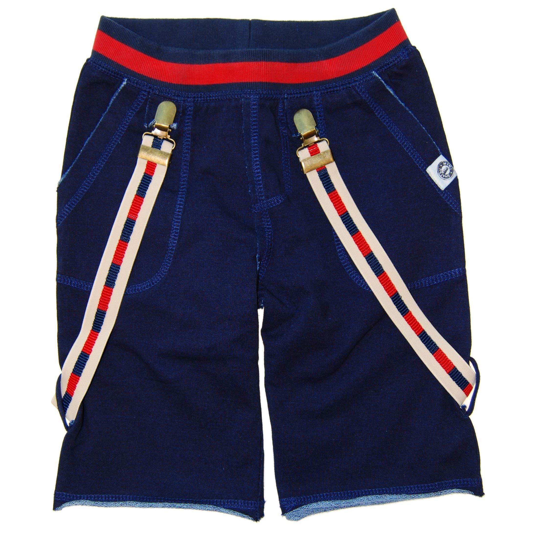 Mini Shatsu Navy Suspender Shorts