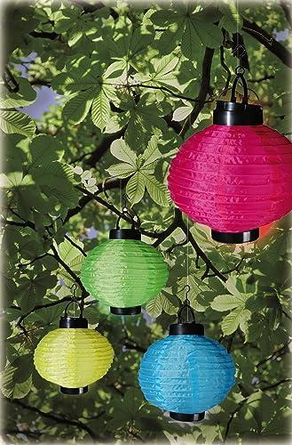 Jardín farolillos Farol solar LED exterior resistente al agua juego de 4 Solar lámpara para colgar: Amazon.es: Iluminación