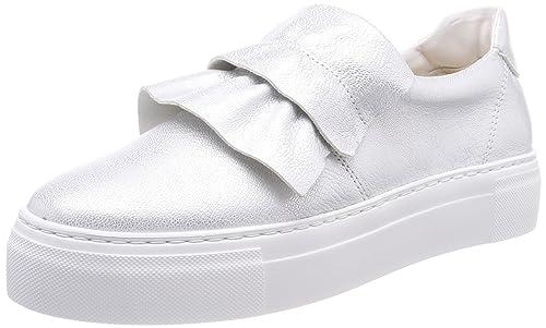 Marc OPolo Sneaker 80114463503101, Zapatillas para Mujer, Plateado (Silver 165)