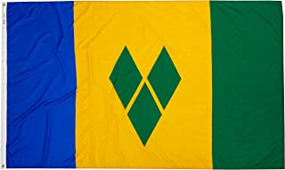product image for Annin Flagmakers Model 197303 St. Vincent/Grenadines Flag Nylon SolarGuard NYL-Glo, 5x8 ft, 100% Made in USA to Official United Nations Design Specifications