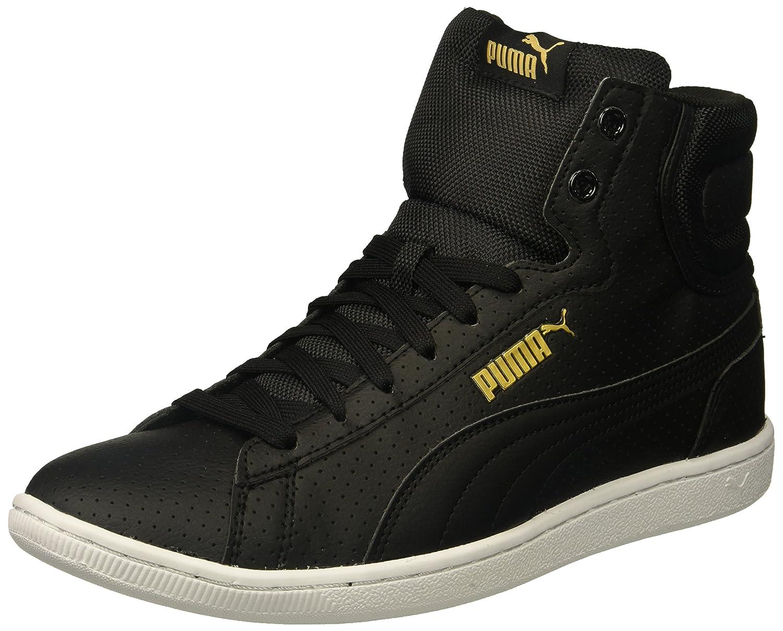 PUMA Women's Vikky Mid FP Sneaker B01MQWNM8Y 6.5 M US|Puma Black-puma Black
