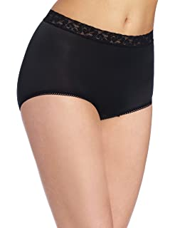 e88f1127ae9d Wacoal Women's New Cotton Suede Full Brief Panty at Amazon Women's ...