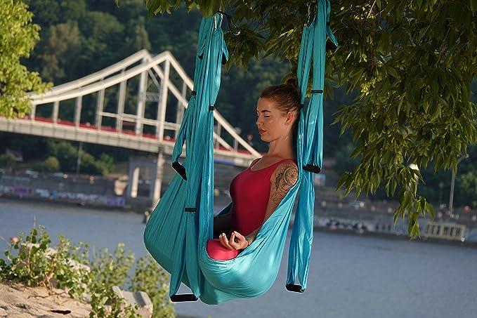 AR Brend Aerial Yoga Swing, Antigravity Yoga Hammock, Aerial Trapeze, Sling, Inversion Tool, Kids and Adult Aerial Yoga