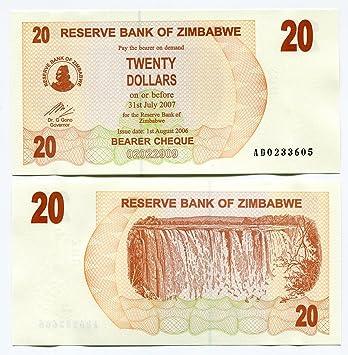 Zimbabue De Billetes UncMundo Dólares 2006 InflaciónMoneda 20 tBdsxohrCQ