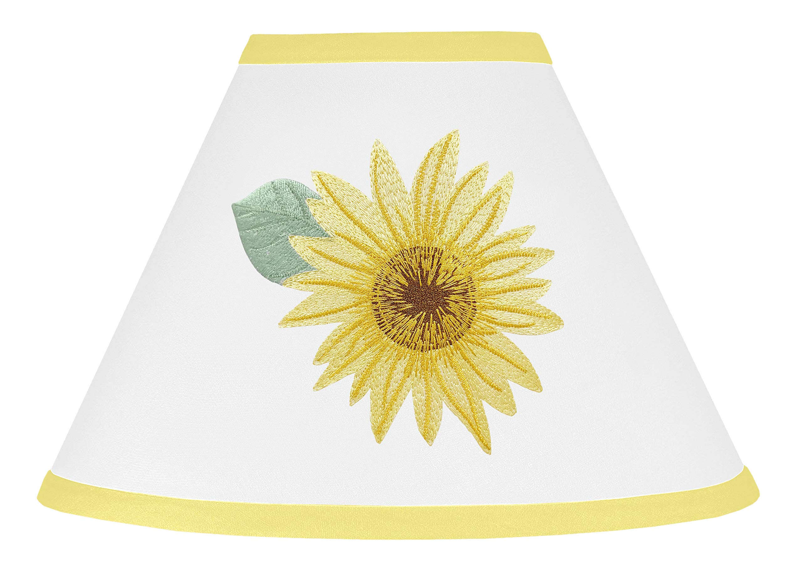 Sweet Jojo Designs Lamp Shade, Farmhouse Watercolor Flower, Yellow/Green and White Sunflower Boho Floral by Sweet Jojo Designs