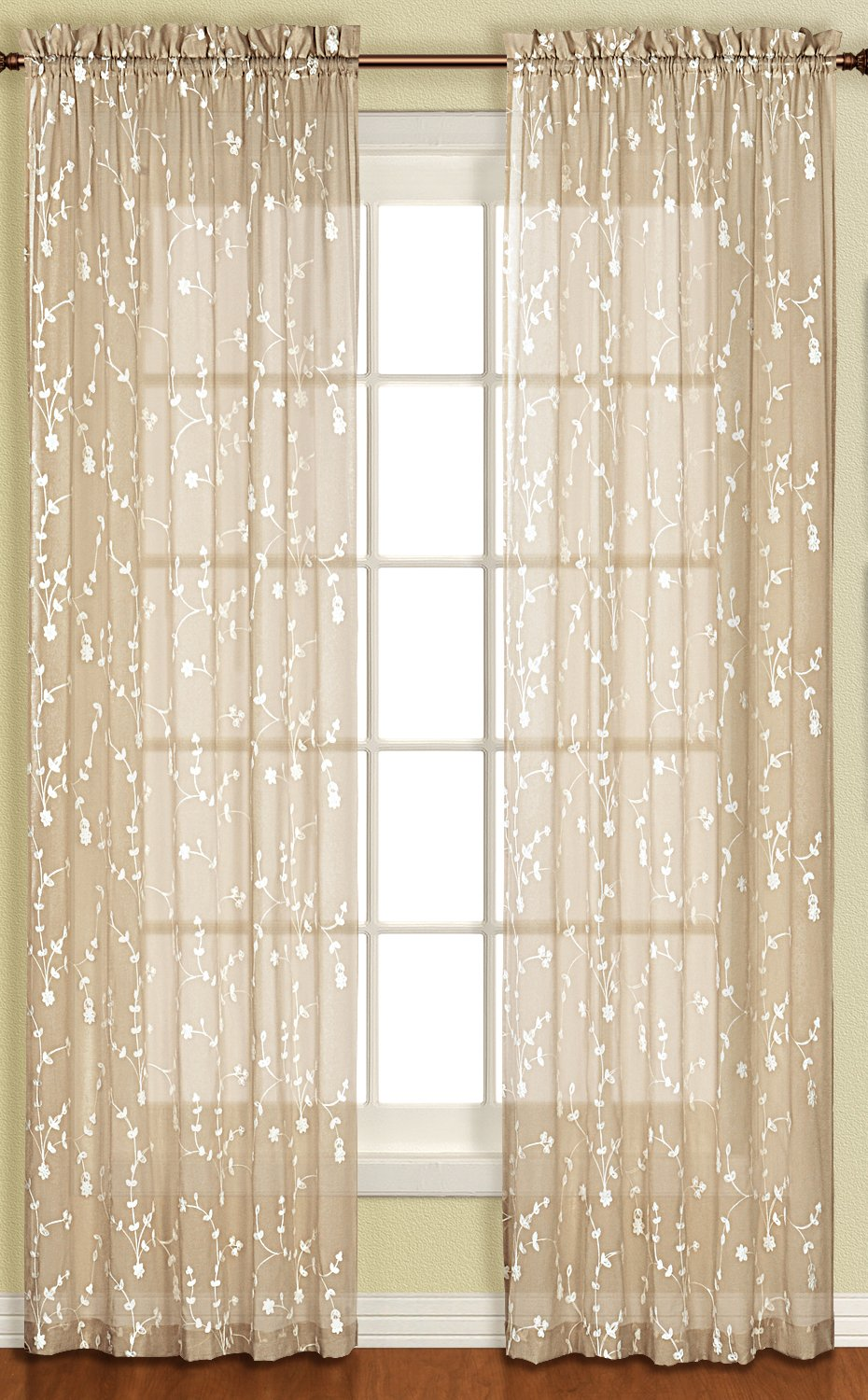 Cortina unida de la cortina de savannah panel envio for Como blanquear cortinas