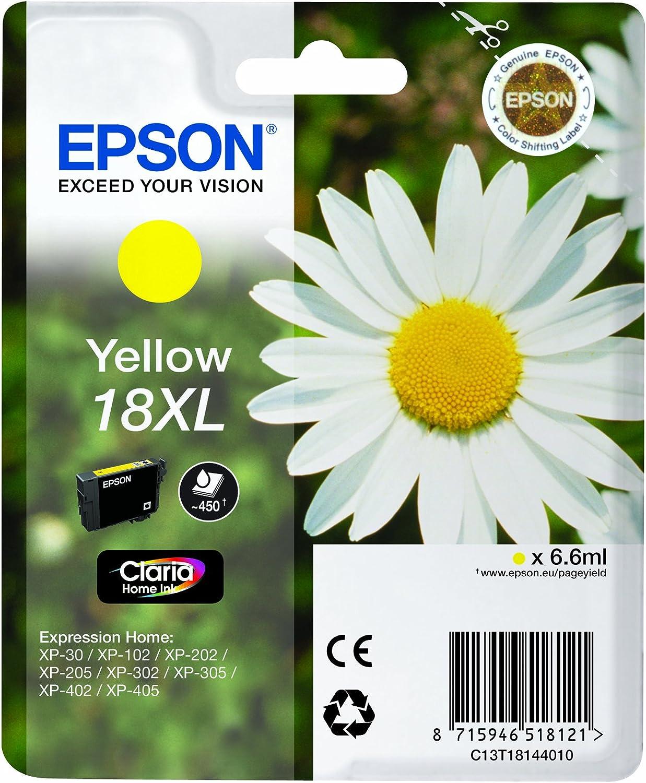 Epson 18XL - Pack de 4 cartuchos de tinta, tricolor y negro, XL ...