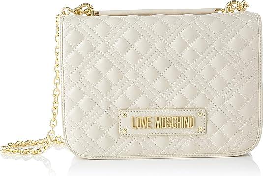 Love Moschino Jc4201pp0a, Bolsa de mensajero para Mujer, beige, 9x19x26 Centimeters (W x H x L)