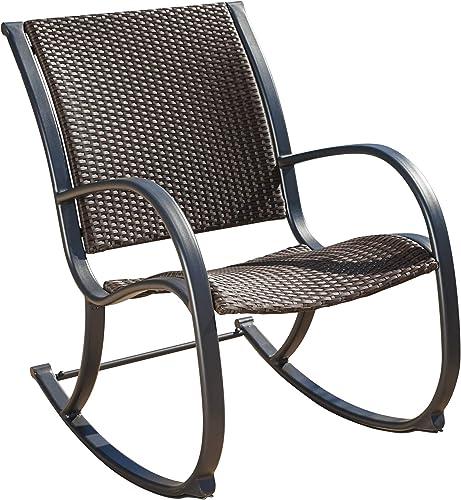 Christopher Knight Home Gracie S KD Rocking Chair, Dark Brown Ridged