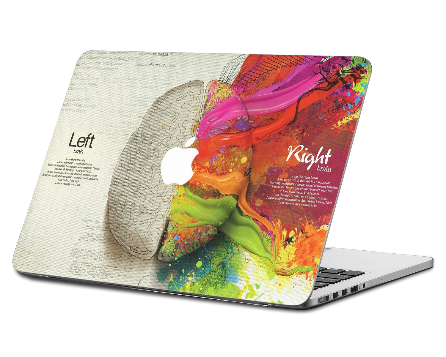 HERNGEE Left and Right Brain Decal Vinyl Skin Sticker Compatible with MacBook Air 13 Inch, Model: A1369/A1466