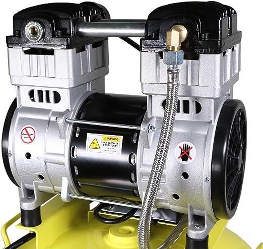 Weldinger Flüsterkompressor Fk 150 Up Innenbeschichteter 35 L Tank 1100 W Silent Kompressor Kolbenkompressor 5 Jahre Garantie Baumarkt