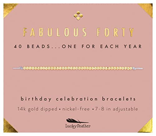 Amazon Lucky Feather 40th Birthday Gifts For Women 14K Gold
