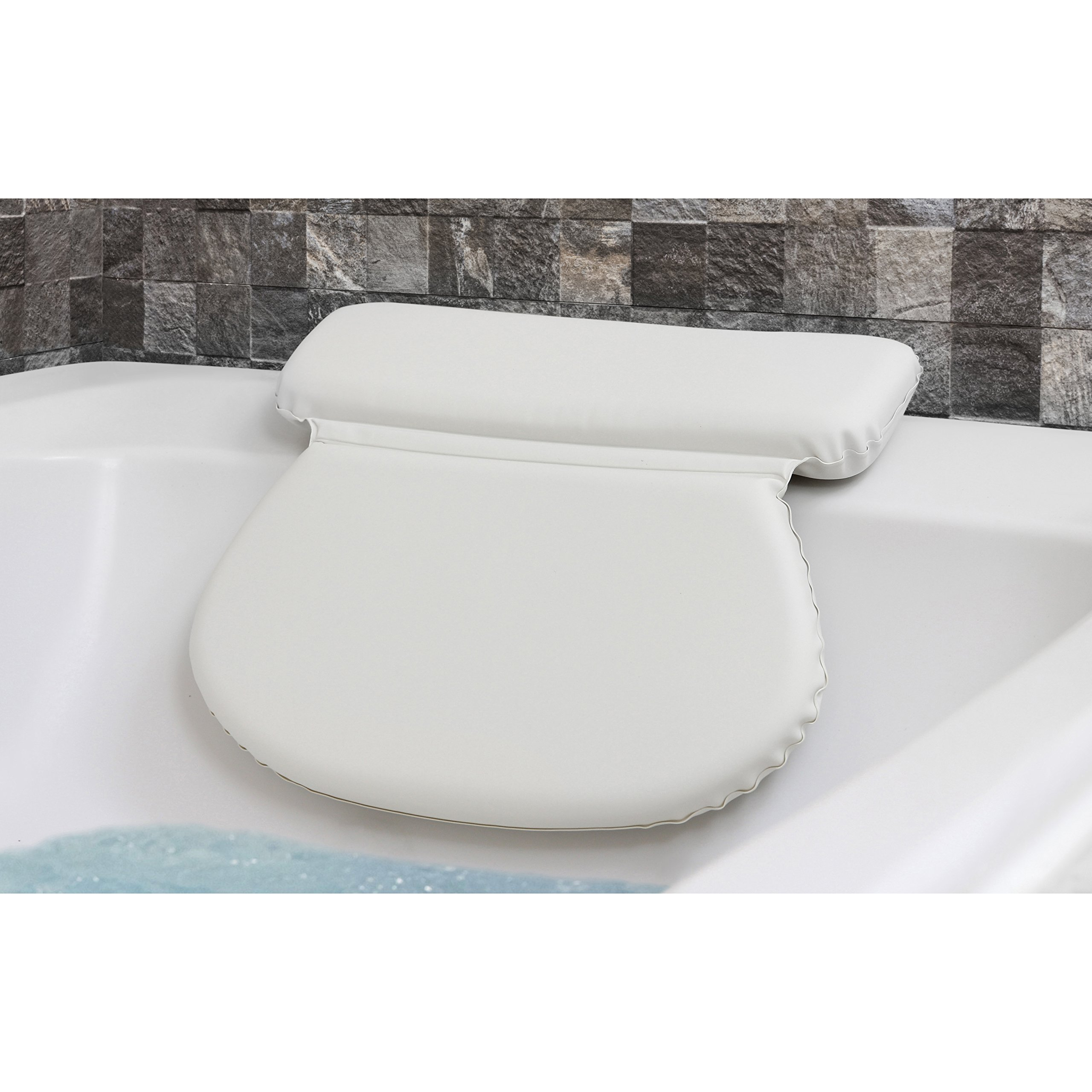 Genial Epica 2X Thick Luxury Spa Bath Pillow, SuperGrip Suction Cups