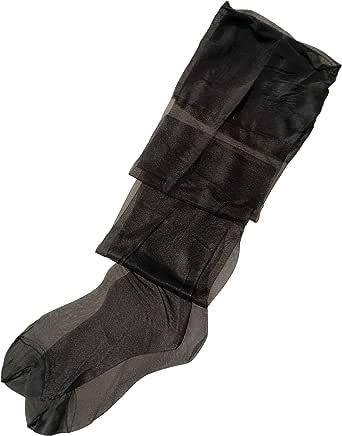 Women's 10 Denier Vintage Thigh High See Through Non-stretch RHT Silk Stocking 928
