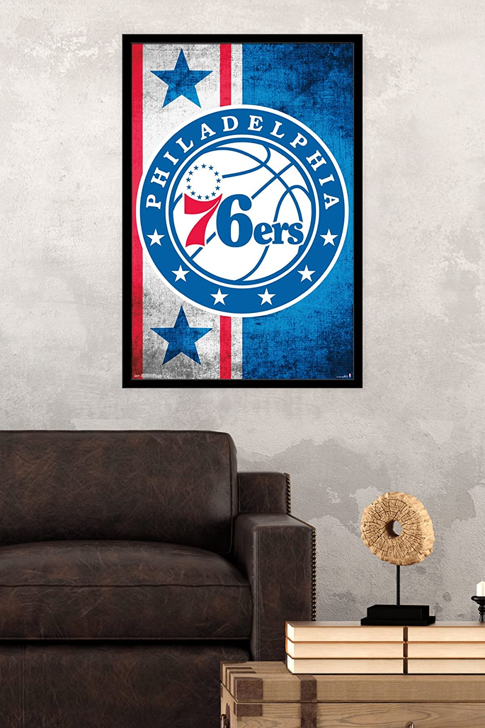 Trends International Philadelphia 76ers Logo Wall Poster 22.375 x 34