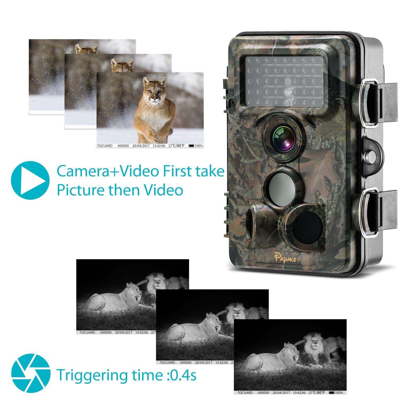 amazon com trail camera papake wildlife camera hunting game