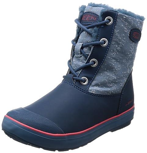 c02153935b5 KEEN Kid's Elsa L Boot WP Ankle Boots, Captains Blue/Sugar Coral, 3 M US  Little Kid: Amazon.ca: Shoes & Handbags