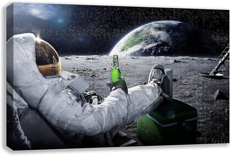 Amazon Com Earth From Moon View Astronaut Carlsberg Canvas Wall