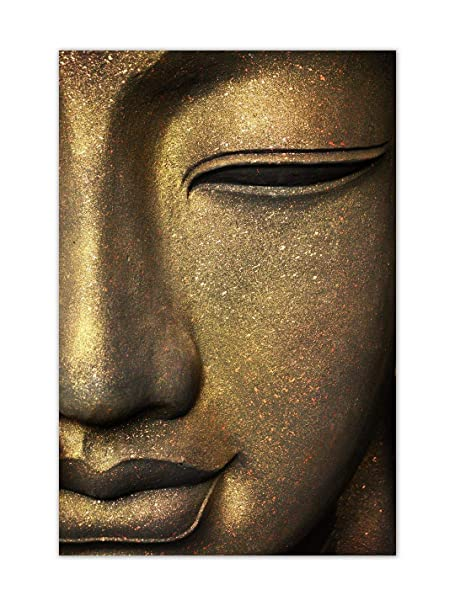 999Store Unframed Printed The face of Buddha Canvas Painting (30X18 Inches) Art Prints at amazon