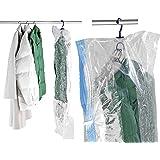 WENKO 3792740100 Sistema de bolsa guardatrajes de vacío, Polietileno, Transparente, Tamaño L, Dimensiones 105 x 70 cm
