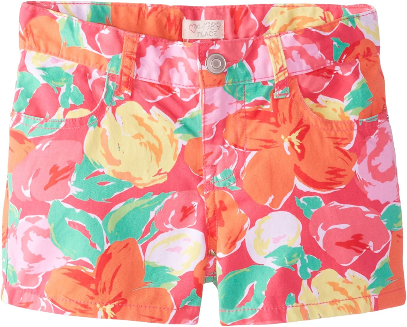 The Childrens Place Big Girls Floral Short