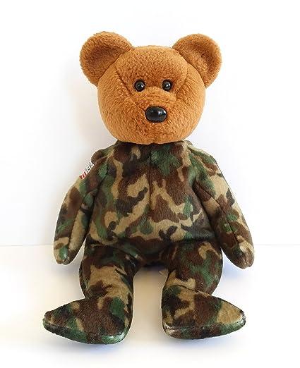 08f0de77713 Amazon.com  Ty Beanie Babies Hero - USA Bear (Reverse Flag on Shoulder)   Toys   Games