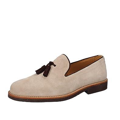 DI MELLA - Mocasines de ante para hombre beige beige beige Size: 44: Amazon.es: Zapatos y complementos