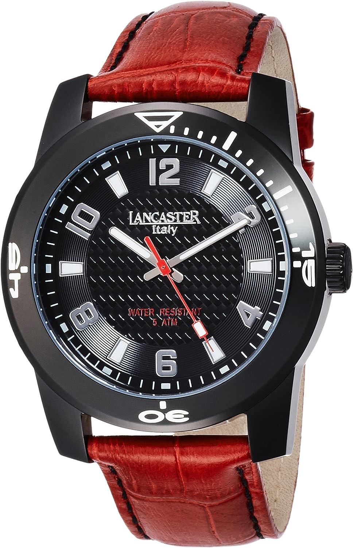 Lancaster 0637LBKRS - Reloj de Caballero Cuarzo Piel Rojo: Amazon.es: Relojes