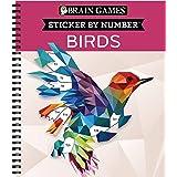 Brain Games - Sticker by Number: Birds (28 Images to Sticker)