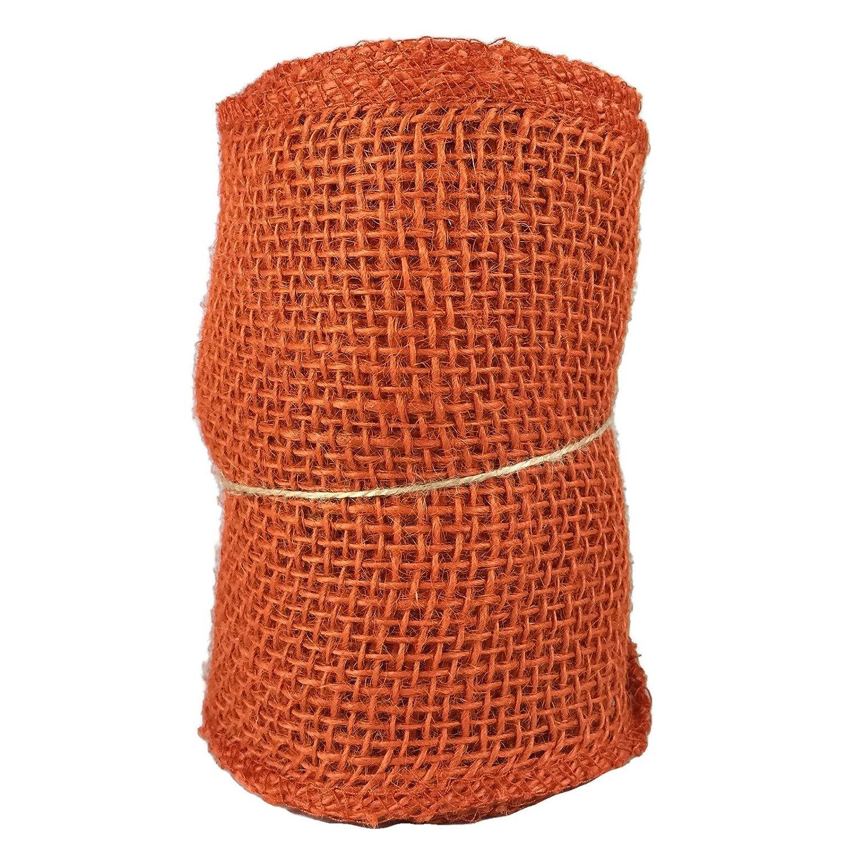 orange burlap craft ribbon roll 55 in x 15 ft