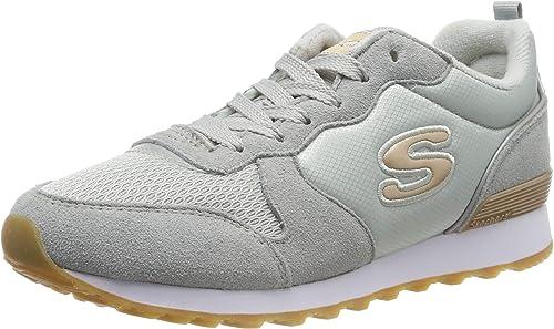 ambiente latitud Generalizar  Skechers RETROS-OG 85-GOLDN GURL, Women's Low-Top Trainers, Grey (Light  Gray Suede/Nylon/Mesh/Rose Gold Trim Ltgrey), 5 UK (38 EU): Amazon.co.uk:  Shoes & Bags