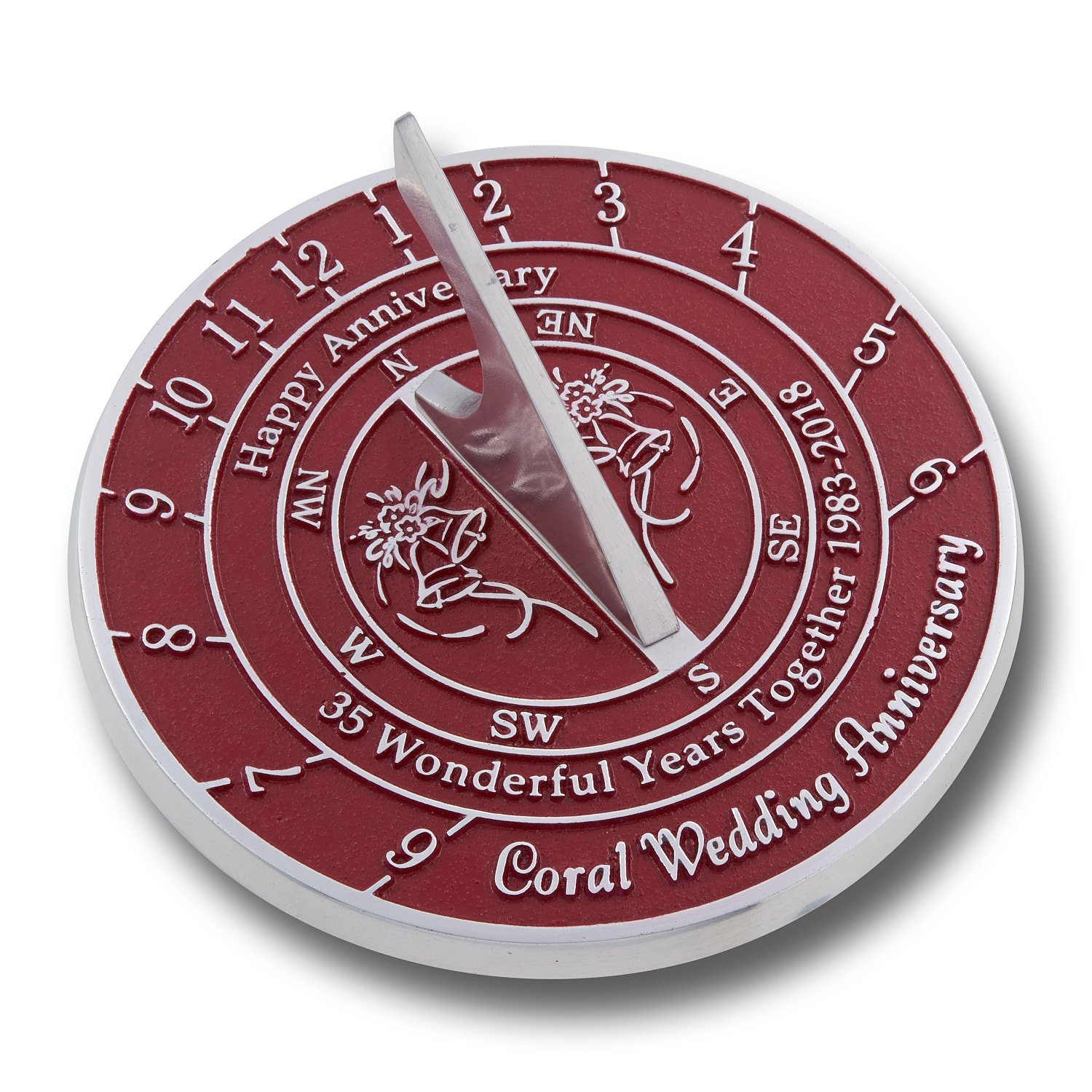 The Metal Foundry 35th Coral Wedding Anniversary Sundial Gift Idea ...