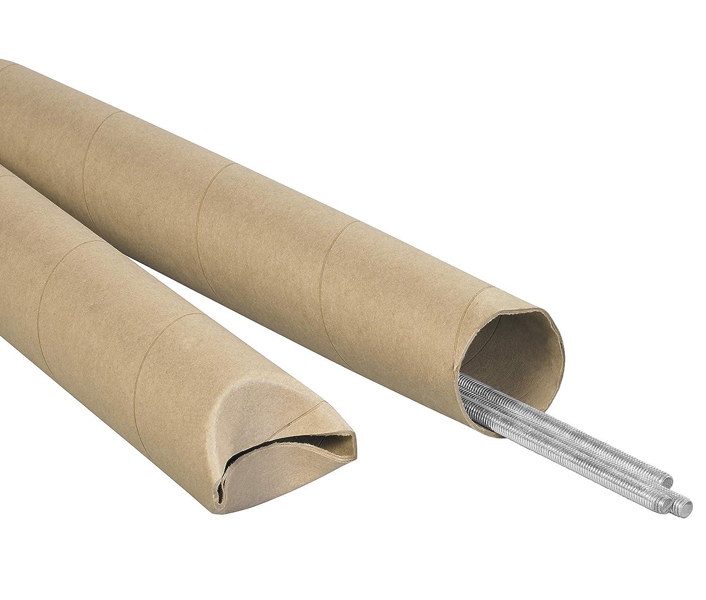 3 x 26 Aviditi S3026K Crimped End Mailing Tubes Kraft Pack of 24