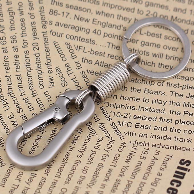 Maycom/Ã/ƒ/Â/'/Ã/'/Â/® Retro Style Simple Strong Carabiner Shape Keychain Key Chain Ring Keyring Keyfob Key Holder Black by Maycom