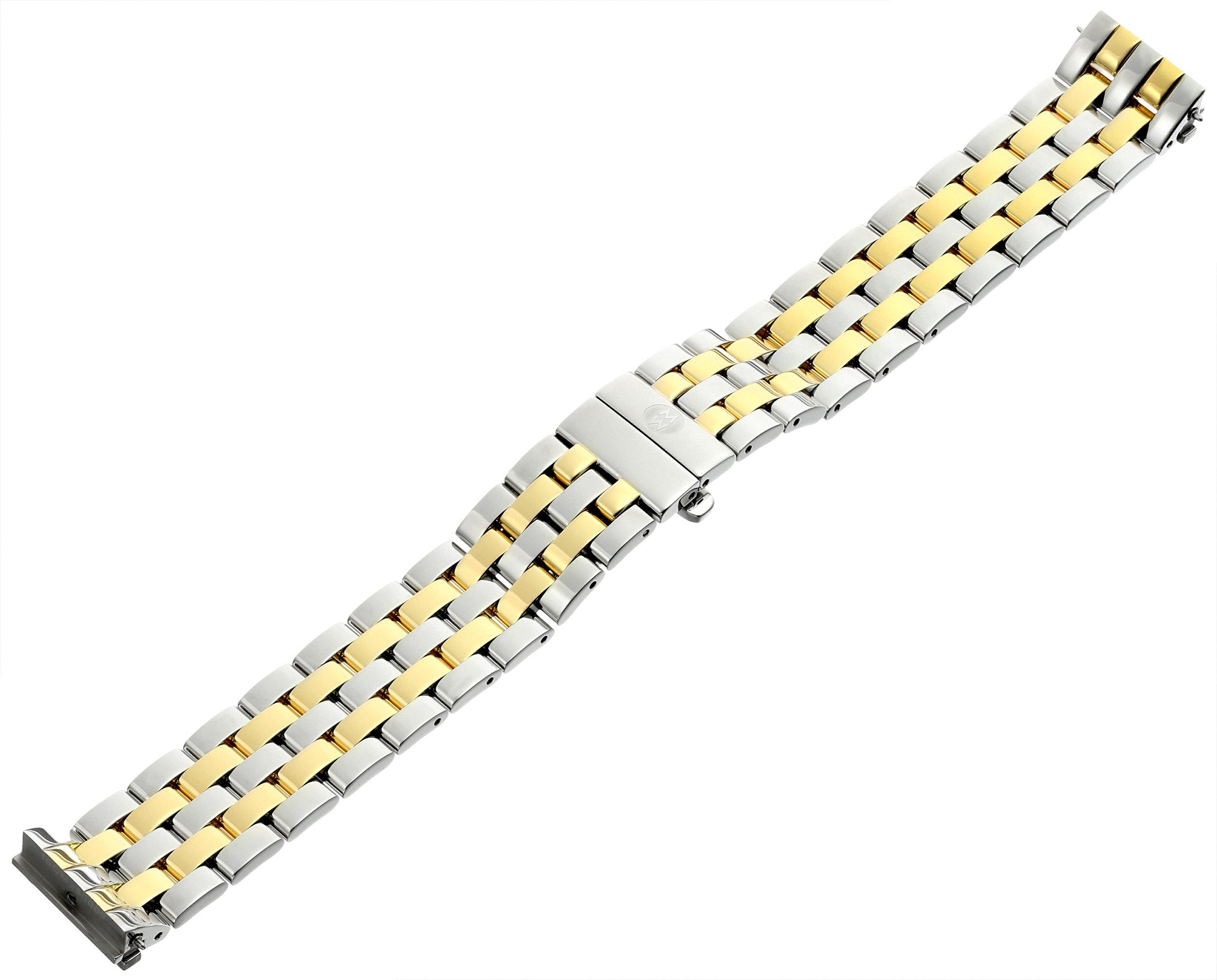 MICHELE MS16CM280009 Urban Mini 16mm Stainless Steel Two Tone Watch Bracelet