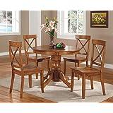 Home Styles 5179-318 5-Piece Dining Set, Cottage Oak Finish