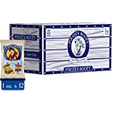 Pirate Brands Booty Cheese Puffs, Healthy Kids Snacks, Real Aged White Cheddar, (Pack of 12) (1 Ounce)