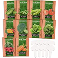 10 Heirloom Vegetable Seeds - 2000+ Survival Bugout Seeds and Essential Emergency Prepper Gear - Non GMO Vegetable Seeds…