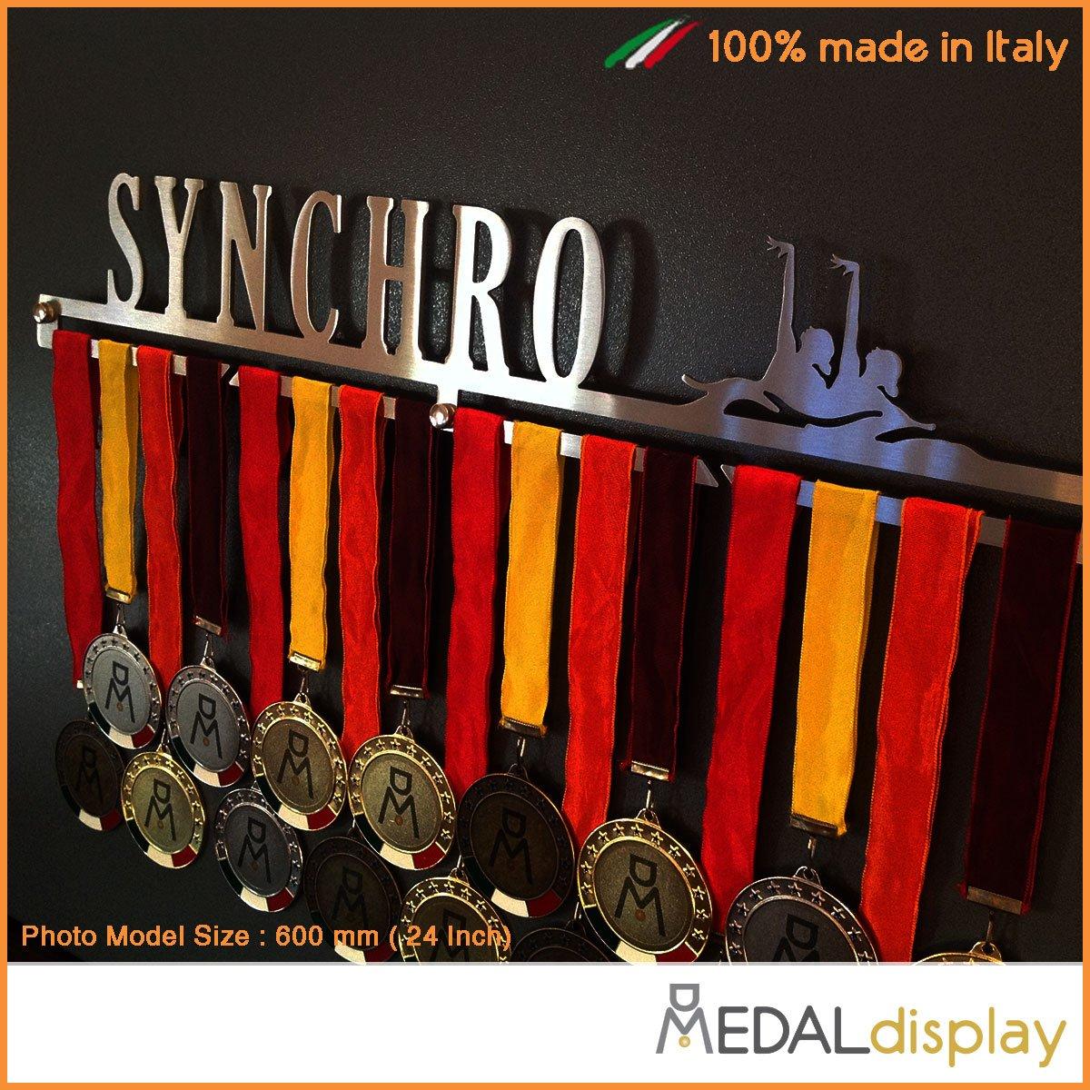 MEDALdisplay Synchro Porte-m/édailles natation synchronis/ée m/édaillon mural