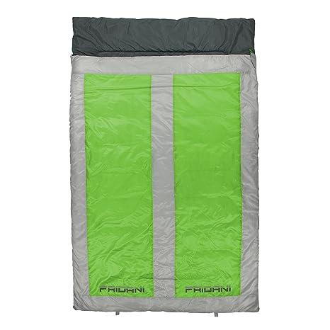 Fridani QG 225d 2 Personas XXL Camping Saco de Dormir de hasta 8 °C Outdoor - Saco 225 x 140 cm cabaña Saco de Dormir con 3000 G Saco de Dormir Doble para ...