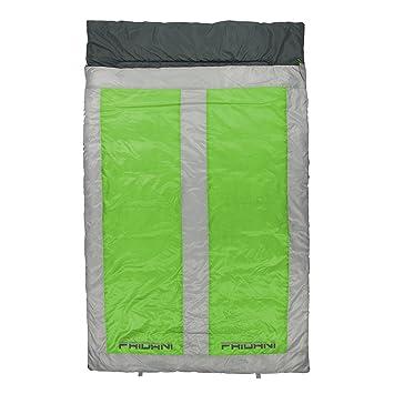 Fridani 2 Personas Saco de Dormir QG 225x140cm XXL Manta -22°C Resistente al Agua Caliente Lavable: Amazon.es: Deportes y aire libre