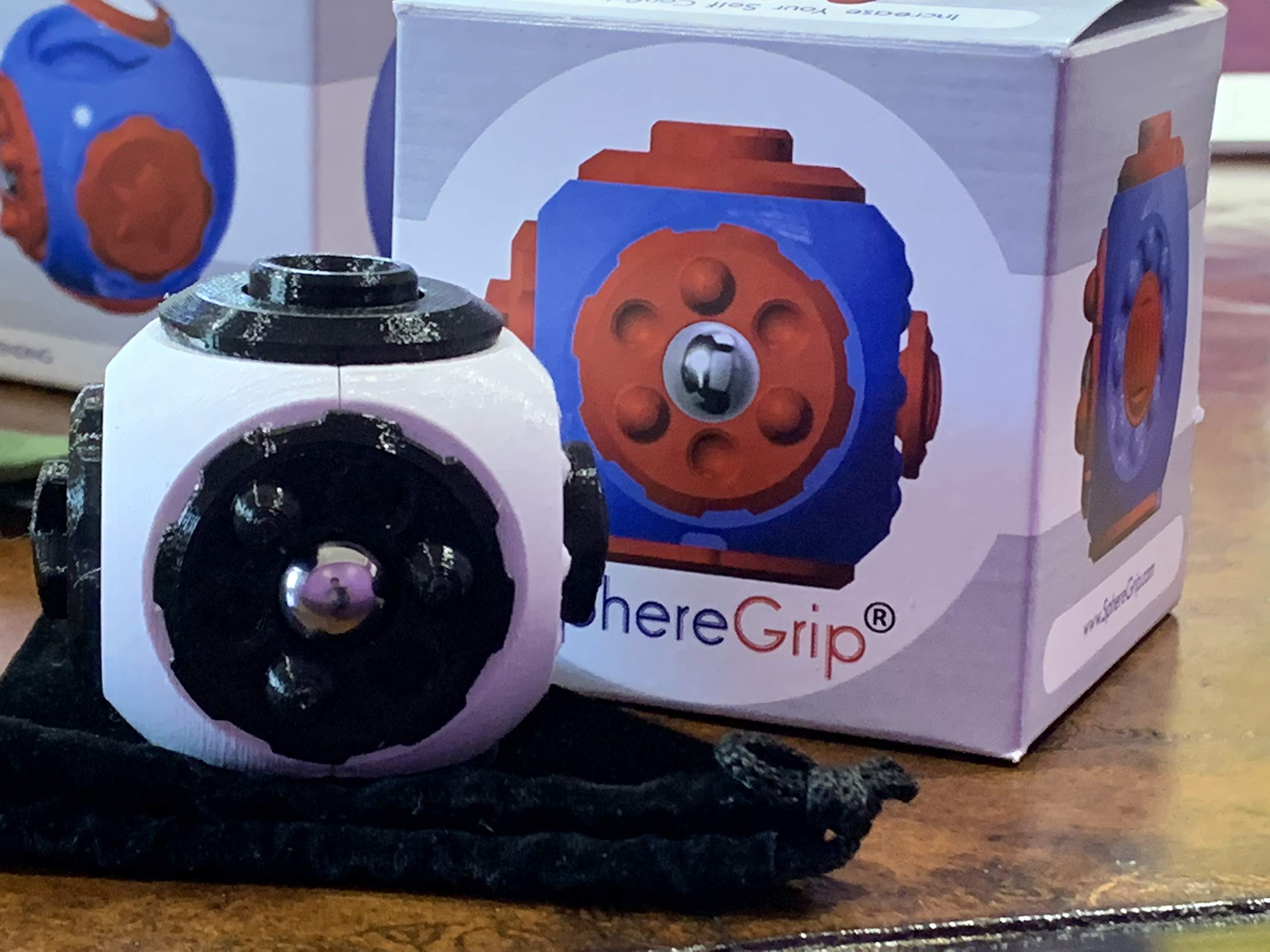 SphereGrip, Fidget toy, Reduce Anxiety and Stress, Increase Self-confidence, Fidget, Storage, Mirror (All 6 combinations) by Arbi Design (Image #4)