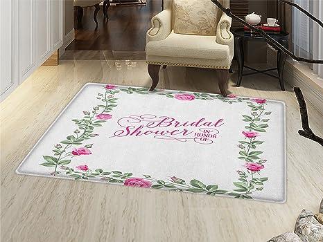 smallbeefly bridal shower bath mats carpet roses buds floral arrangement leaves frame bride party theme image