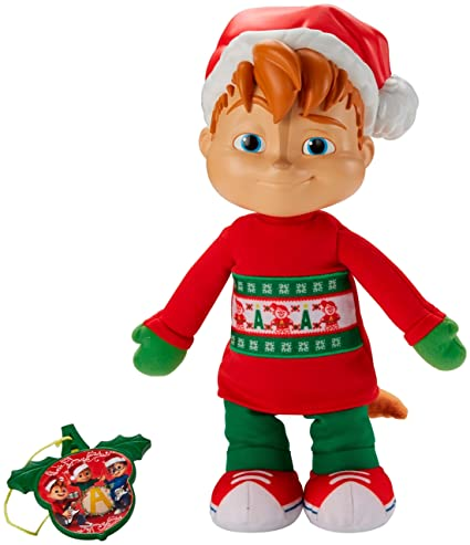 fisher price alvin the chipmunks singing holiday alvin plush - Alvin And The Chipmunks Christmas Songs