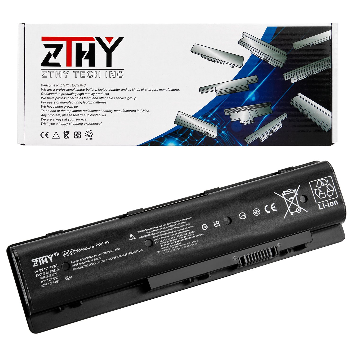 ZTHY Compatible 41WH MC04 Laptop Battery Replacement for HP Envy m7-n109dx m7-n011dx 17-r Series Notebook HSTNN-PB6R 805095-001 14.8V 2550mAh