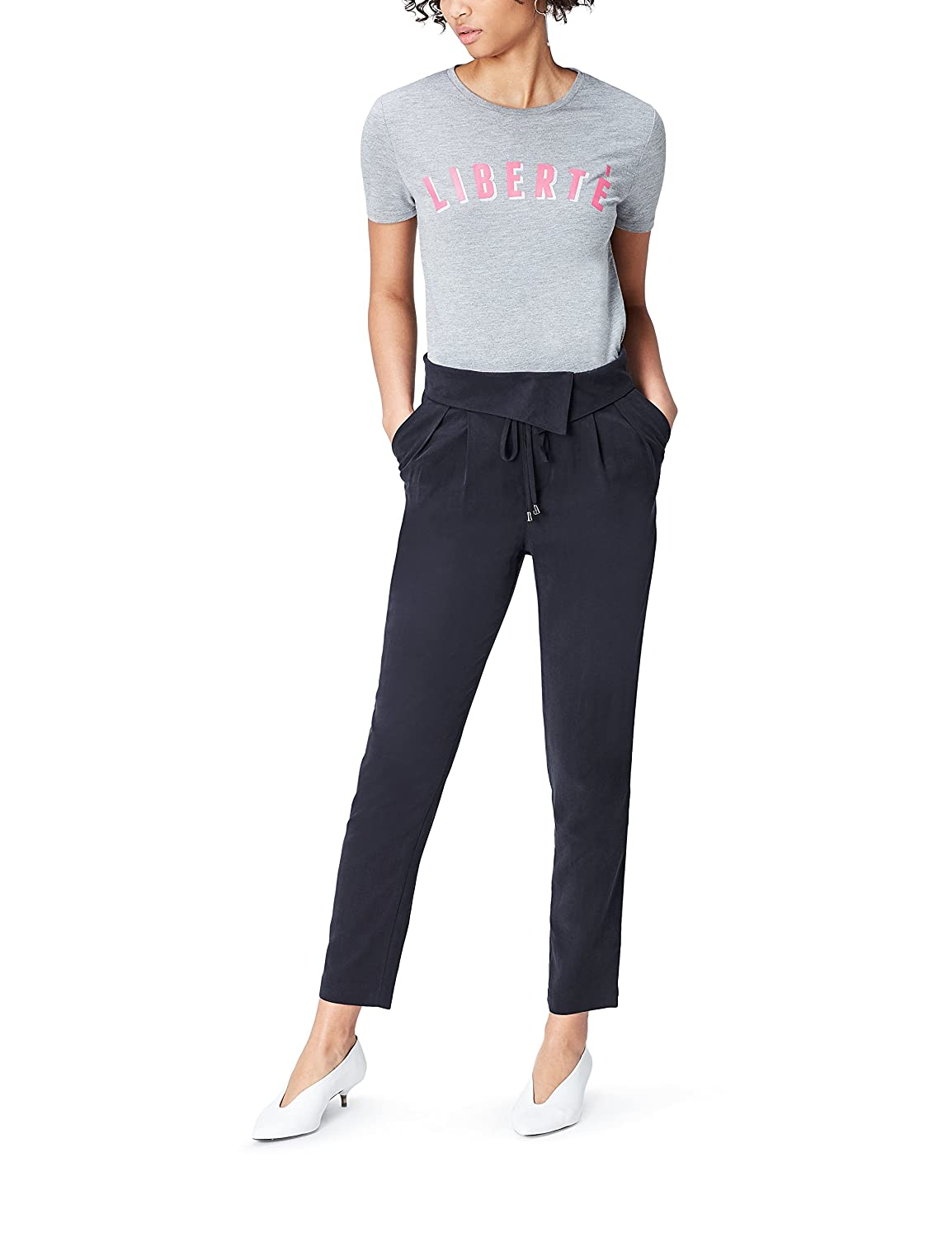 FIND Women's Trousers with Wrap and Regular Waist FP04138